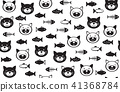 Vector  funny cats   and fishes seamless pattern. 41368784