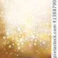 Vector sparkle, golden background. 41368790