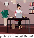 Business woman working at workplace 41368840