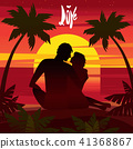 Love at sunset 41368867
