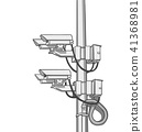 Illustration of surveillance cameras 41368981