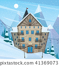 Inn on snow slope 41369073