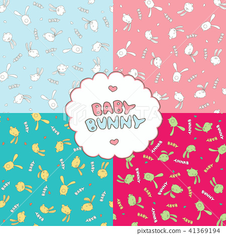 Patterns with baby bunnies 41369194