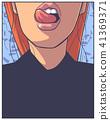 print, girl, design 41369371
