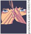 print, girl, design 41369374