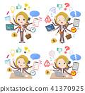 blond hair business women_mulch task Office 41370925