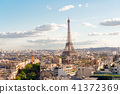 eiffel tour and Paris cityscape 41372369