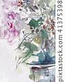 터키 도라지 필기 꽃 스케치 41375398