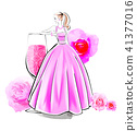 Rose cocktail and dress 41377016