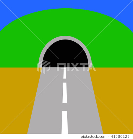 Illustration of mountains and tunnels 41380123