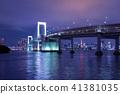 도쿄 레인보우 브릿지의 야경. 41381035