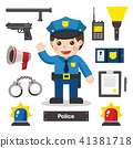 Set of character and icon of Police officer. 41381718