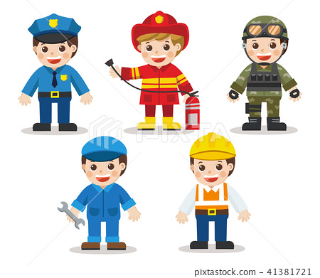 Kid Set of different professions. 41381721