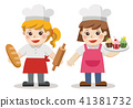 Characters of  Baker bakery theme. 41381732