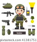 Set character of Soldier officer. 41381751