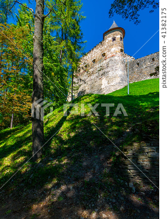 Stara Lubovna Castle of Slovakia on the hillside 41382175