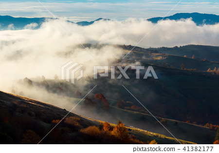 cloud inversion in autumn mountains 41382177