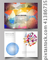 The minimal vector illustration of editable layout. Modern creative covers design templates for 41386735