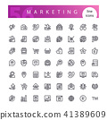 Marketing Line Icons Set 41389609