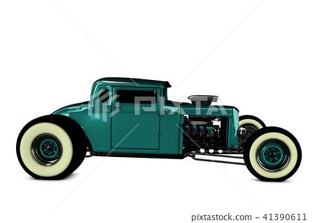 Hot Rod 3D render 41390611