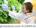 Hydrangea and girls 41390616