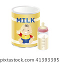 powdered milk, baby formula, baby bottle 41393395