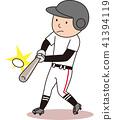 棒球击球 41394119