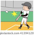 棒球击球 41394120