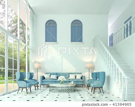 Modern classic living room 3d render 41394905