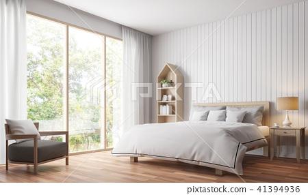 Modern vintage bedroom 3d render 41394936