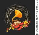 gramophone, music, vector 41395051