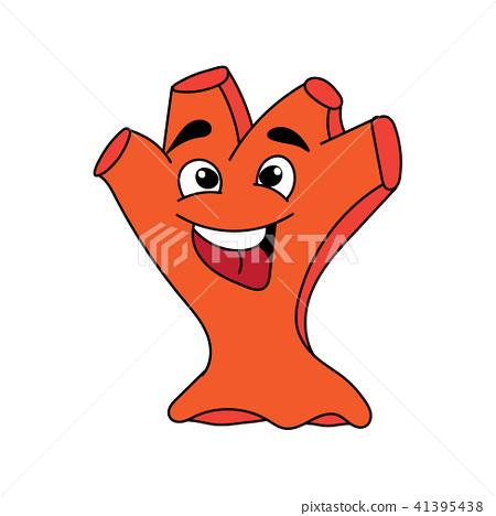 Monster hand puppet illustration. 41395438