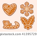Christmas cookie cake vector sweet desserts cooked food traditional cakes for Xmas dinner and 41395729