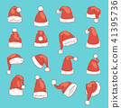 christmas, hat, vector 41395736