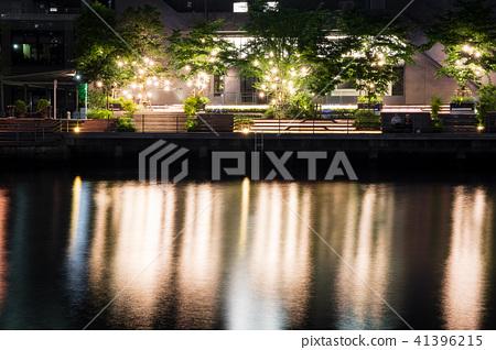 Night view of the canal Shinagawa Tennozu Isle 41396215