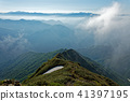 Mountain ranges of Takeshiba and Oze of Shishu viewed from the climb of Mt. Tanigawa and Nishi-black ridges 41397195