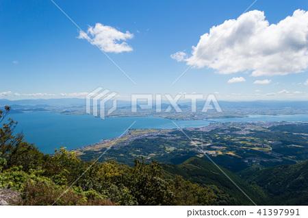 시가 権現山에서의 전망 비와코 41397991