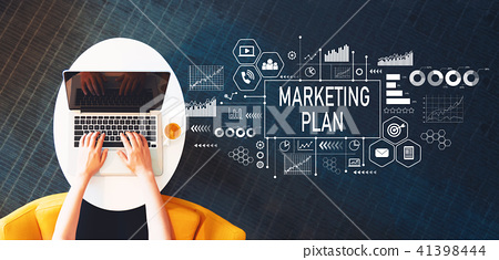Marketing Plan with person using a laptop 41398444