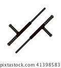 Tonfa weapon flat icon 41398583