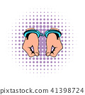 Hands in handcuffs  icon, comics 41398724