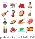 Spain icons cartoon 41400350