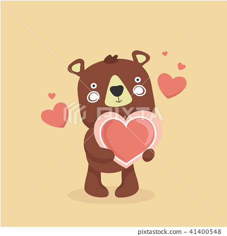 Cute baby bear cartoon. 41400548