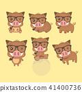 A set of boar vector illustration flat design. 41400736