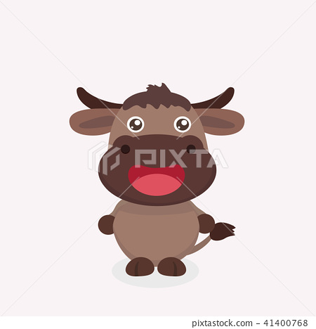 Cute buffalo cartoon. 41400768