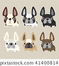 french bulldog set design, pet and animal concept 41400814
