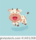 Cute cow cartoon. 41401268