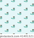 Vector seamless pattern with crocodile. 41401321