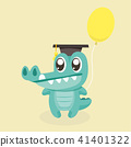 Cute cartoon crocodile. 41401322
