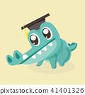 Cute cartoon crocodile. 41401326