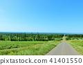 The earth of Hokkaido blue sky and the Sea of Okhotsk 41401550